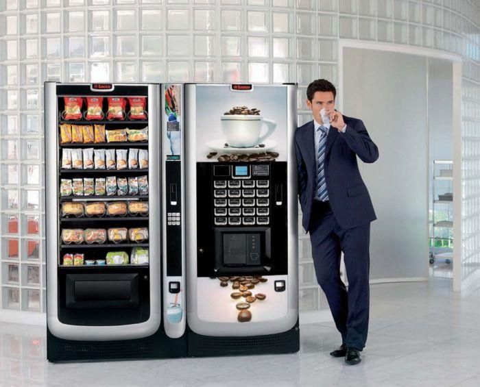 Вендинговый автомат по продаже горячих напитков